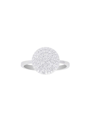 Apm Monaco 925 Sterling Silver Fashion Ring for Women with Cubic Zirconia Stone, Silver, EU 54