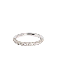 Apm Monaco 925 Sterling Silver Fashion Ring for Women with Cubic Zirconia Stone, Silver, EU 56