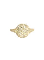 Apm Monaco 925 Sterling Silver Gold Plated Fashion Ring for Women with Cubic Zirconia Stone, Gold, EU 54