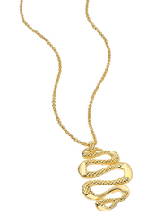 Just Cavalli Sahara Stainless Steel Necklace for Womenwith Snake Pendant, Gold
