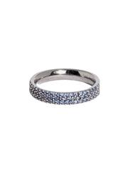 Apm Monaco 925 Sterling Silver Fashion Ring for Women with Cubic Zirconia Stone, Gunmetal/Blue, EU 44