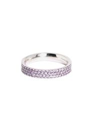 Apm Monaco 925 Sterling Silver Midi Ring for Women with Cubic Zirconia Stone, Silver/Purple, EU 44