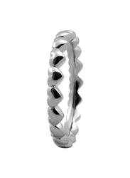 Christina Design London Sterling Silver Million Love Heart Shape Fashion Ring for Women, Silver, EU 49