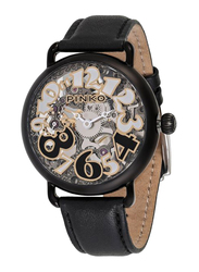 Pinko Pianoforte Analog Automatic Watch for Women with Leather Band, Water Resistant, 20000, Black-Clear