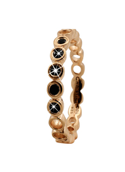 Christina Design London Gold Plated Sterling Silver Bubbles Shape Fashion Ring for Women with Spinal Stone, Gold, EU 49