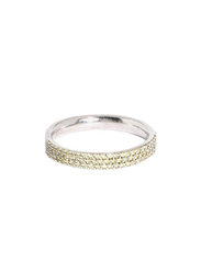 Apm Monaco 925 Sterling Silver Fashion Ring for Women with Cubic Zirconia Stone, Silver/Yellow, EU 54