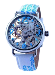 Pinko Pianoforte Analog Automatic Watch for Women with Leather Band, Water Resistant, 20000, White/Blue-Clear