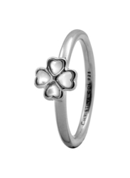 Christina Design London Sterling Silver Fashion Ring for Women with Foursome Pearl Stone, Silver, EU 49