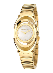 Morellato Heritage Analog Watch for Women with Stainless Steel Band, Water Resistant, R0153106501, Gold-White