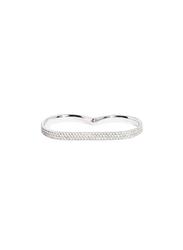 Apm Monaco 925 Sterling Silver Multi Finger Ring for Women with Cubic Zirconia Stone, Silver, EU 58