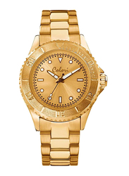 Colori Analog Watch for Women with Stainless Steel Band, Water Resistant, 5-COL 344, Gold