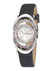 Morellato Heritage Analog Watch for Women with Leather Band, Water Resistant, R015110650, Black-Silver
