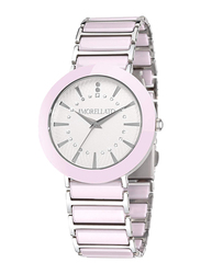 Morellato Firenze Analog Watch for Women with Stainless Steel Band, Water Resistant, R0153103506, Pink-White