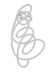 Apm Monaco 925 Sterling Silver Clips Earrings for Women with Zirconia Stone, Silver