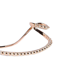 Apm Monaco 925 Sterling Silver Bangle for Women with Zirconia Stone, Rose Gold