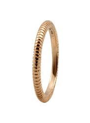 Christina Design London Gold Plated Sterling Silver Lines Fashion Ring for Women, Gold, EU 51