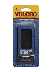 Velcro 2-Piece Heavy Duty Fastener Strip Holders, 2 x 4 inch, Black