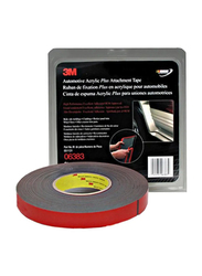 3M 06383 Double Side Tape, Red