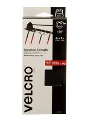 Velcro Industrial Strength Heavy Duty Stick On Tape, 1.2 mtr, Black