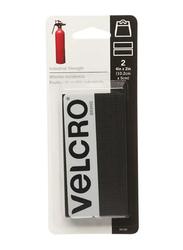 Velcro 2-Piece Velcro Strips, 4 x 2 inch, Black