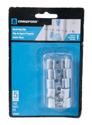 Crawford Small Grip Clip, 79mm, 5-Piece, Silver