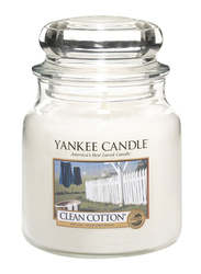 Yankee Candle Clean Cotton Classic Jar, Medium, Transparent