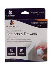 Dumasafe Magnetic Drawer Lock, 4 Pieces, White