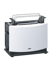 Braun Multiquick 3 2 Slot Toaster, 950W, HT450, White/Black