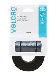 Velcro One Wrap Roll Strap, 12ft x 0.75 inch, Black