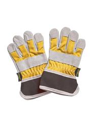 Stanley Kids Work Gloves, 2 Pieces, Grey/Yellow