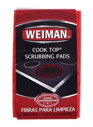 Weiman Cook Top Scrubbing Pads, 3.2 x 5.1 inch, Multicolour