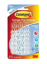 3M Command Clips, 20-Piece, Clear