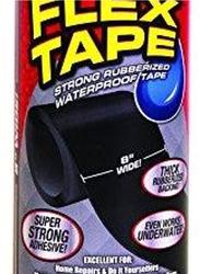Flex Tape Strong Rubberized Waterproof Seal Tape, Black