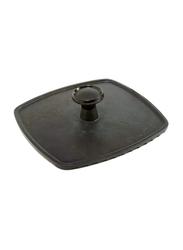 Norpro 8.5-inch Enamelled Cast Iron Panini Press, Black