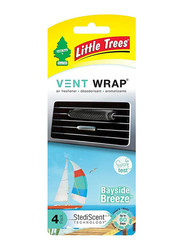 Little Trees 4-Piece Trees Vent Wrap Bayside Breeze Air Freshener