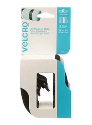 Velcro 2-Piece All-Purpose Straps, 36 x 2 inch, Black