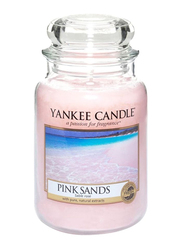 Yankee Candle Sands Classic Jar Candle, Pink/Clear
