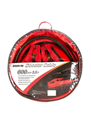 Greatway Car Battery Booster Cable, 600AMP, 3.5 Meters, Red/Black