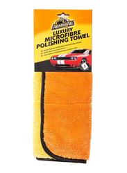 Armor All Luxury Microfiber Polishing Towel, Orange/Black