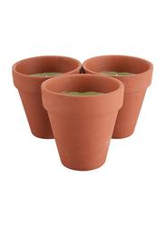 Waxworks 3-Piece Citronella Pot Set, 90 x 95mm, Brown/Green