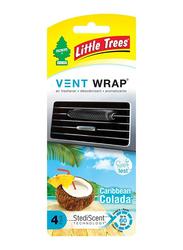 Little Trees Caribbean Colada Vent Wrap Air Freshener, Multicolour