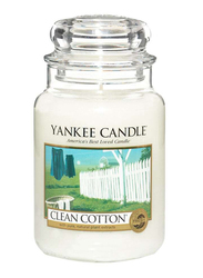 Yankee Candle Clean Cotton Classic Jar, Large, White