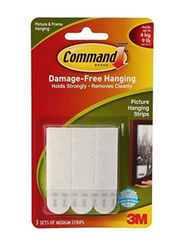 3M Command Picture Hanging Strips, White