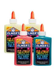 Elmer's Glow In The Dark Liquid Glue, 4 Piece, Multicolour