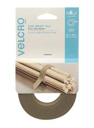 Velcro Double-Sided Multi-Purpose Hook & Loop Tape, Brown
