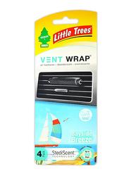 Little Trees Bayside Breeze Vent Wrap Car Air Freshener, Multicolour