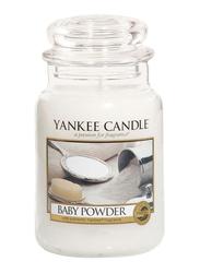 Yankee Candle Baby Powder Classic Jar, Large, White