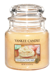 Yankee Candle Vanilla Cupcake Classic Jar, Medium, Beige