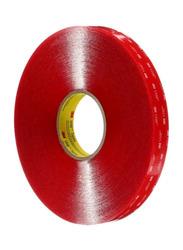 3M VHB Double Sided Heavy Duty Clear Acrylic Sponge Tape, 19 x 11000mm, Red