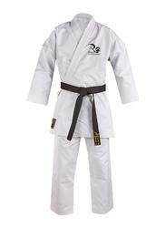 Riaz International 3/160 8-oz Cotton Sport Club Pattern Unisex Karate Uniform, White